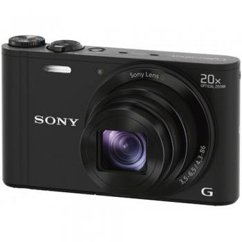 Camera Foto Digitala Sony Cyber-Shot DSC-WX300 18MP Zoom Optic 20x OIS Wi-Fi Black DSCWX300B.CE3