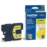 Cartus Cerneala Brother LC980Y Yellow capacitate 260 pagini for Brother DCP-145C, DCP-165C, DCP-195C, DCP-365CN, DCP-375CW, MFC 250C, MFC 290C, MFC 295CN