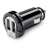 Incarcator auto cu doua mufe USB, negru, Cellular line, MICROCBRUSBDUAL2A