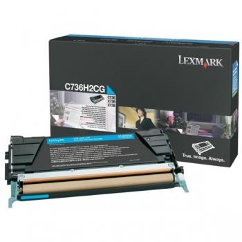 Cartus Toner Lexmark C736H2CG Cyan High Yield 10000 pagini for C736DN, C736DTN, C736N, X736DE, X738DE, X738DTE