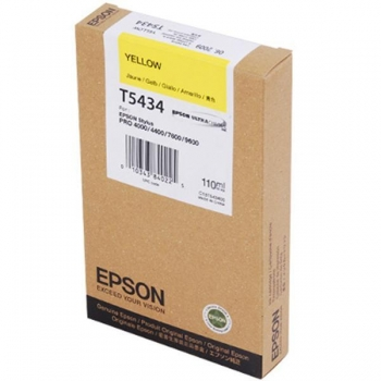Cartus Cerneala Epson T5434 Yellow 110ml for Stylus Pro 4000, 7600, 9600 C13T543400