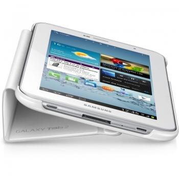 "Husa tableta Samsung EFC-1G5SWECSTD White compatibila cu Galaxy TAB 2 piele 7"" cu functie de stand"