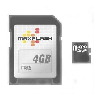 Card Memorie microSDHC Maxflash 4GB Clasa de viteza 4 + Adaptor SD SDC4GBMXF