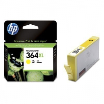 Cartus Cerneala HP Nr. 364XL Yellow Vivera Ink 750 Pagini for PhotoSmart C5380, HP PhotoSmart C6380, HP PhotoSmart D5460, HP PhotoSmart Pro B8550 CB325EE