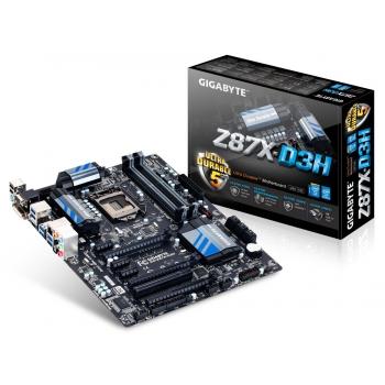 Placa de baza Gigabyte Z87X-D3H Socket 1150 Chipset Intel Z87 4x DIMM DDR3 3x PCI-E x16 3.0 3x PCI-E x1 1x PCI HDMI DVI VGA 6x USB 3.0 ATX
