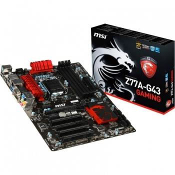 Placa de baza MSI Z77A-G43 Gaming Socket 1155 Chipset Intel Z77 4x DIMM DDR3 1x PCI-E x16 3.0 1x PCI-E x16 2.0 2x PCI-E x1 3x PCI HDMI DVI VGA 2x USB 3.0 ATX