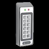 Terminal de control acces Silin SK-1011 cu cartele de proximitate si cod numeric, Cartele 125KHz (EM4100 sau compatibil), Distanta de citire 2-5cm, Capacitate 500 cartele, 500 coduri numerice, carcasa metalica anti-vandal