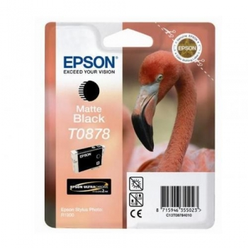 Cartus Cerneala Epson T0878 Matte Black 11.4ml for Stylus Photo R1900 C13T08784010