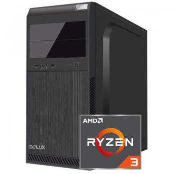 Sistem PC Bocris AMD RYZEN 3 up to 3.7GHz RAM 4GB DDR4 HDD 1TB AMD Radeon Vega 8