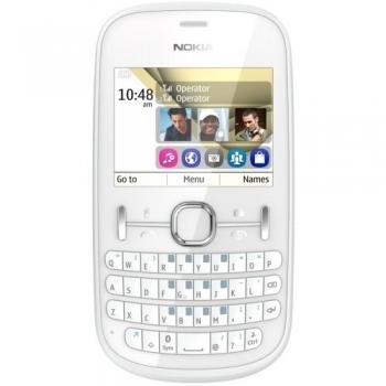 Telefon Mobil Nokia Asha 200 White Dual SIM tastatura qwerty NOK200WHT
