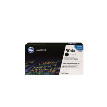 Cartus Toner HP Nr. 504X Black 10500 Pagini for Color LaserJet CM3530 MFP, CM3530FS MFP, CP3525DN, CP3525N, CP3525X CE250X