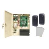 Kit de acces si pontaj pentru o usa bidirectionala Sistem extensibil la maxim 500 usi, format din centrala de acces AC225 Doua cititoare AY-KR12, 50 cartele de proximitate ATR14WSoft Veritrax cu antipassback globalMaxim 30000 utilizatori, memorie 10000