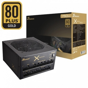 Sursa Modulara SeaSonic X-750 750W 4x PCI-E 10x SATA 5x Molex PFC Activ OPP, OVP, UVP, OCT, SCP, OTP Certificare 80+ Gold SS-750KM3