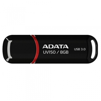 Memorie USB ADATA UV150 8GB USB 3.0 Black AUV150-8G-RBK
