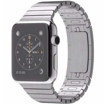 Apple Watch 42 mm carcasa din otel inoxidabil si curea metalica argintie