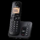 "TGC210FXB, telefon DECT, 1,6"" LCD display cu iluminare, speaker, CLIP, agenda 50 numere, robot (18 minute), speed dial, keypad lock, montare pe perete, culoare negru"