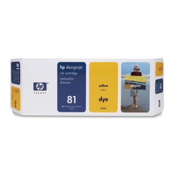 Cartus Cerneala HP Nr. 81 Dye Yellow 680 ml for Designjet 5000/UV, Designjet 5500 42', Designjet 5500 60', Designjet 5500 PS 42', Designjet 5500 PS 60' C4933A