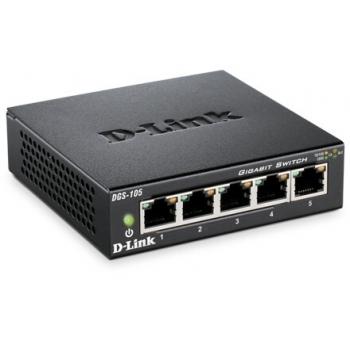 Switch D-Link DGS-105 5xRJ-45 10/100/1000Mbps