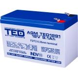 ACUMULATOR TED 12V 9.1Ah