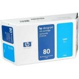 Cartus Cerneala HP Nr. 80 Cyan 350 ml for Designjet 1050, Designjet 1055 C4846A