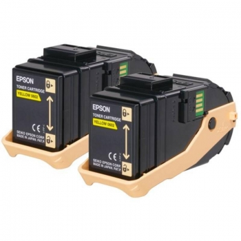 Pachet Cartus Toner Epson C13S050606 Yellow 2 Bucati 2x7500 Pagini for Aculaser C9300D2TN, C9300D3TNC, C9300DN, C9300DTN, C9300N, C9300TN