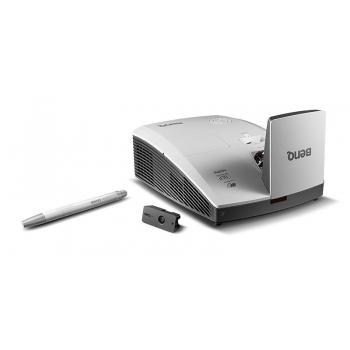 Proiector BENQ MH856UST, DLP FHD 1920x 1080, 3500 lumeni, 10.000:1, lampa 7.000 ore Smart Eco, D-sub, Composit, S-Video, MHL, HDMI, RCA, RS232, Audio in/out, USB type A/ B, 3D ready, greutate 5 kg, boxe 10W, telecomanda, card garantie, culoare alb