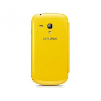 Husa Samsung Flip Cover pentru i8190 Galaxy S III Mini Yellow EFC-1M7FYEGSTD