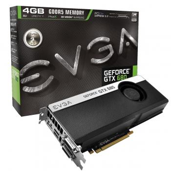 Placa Video EVGA nVidia GeForce GTX 680 4GB GDDR5 256bit PCI-E x16 3.0 HDMI 2x DVI DisplayPort 04G-P4-2686-KR
