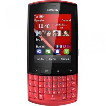 Telefon Mobil Nokia Asha 303 Red 3G 1GHz tastatura qwerty Wi-Fi NOK303R