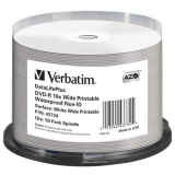 DVD-R Verbatim 4.7GB 16X Wide Printable Waterproof No ID Brand 50 bucati 43734
