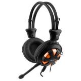 Casti A4Tech HS-28-3 cu microfon si control de volum black-orange