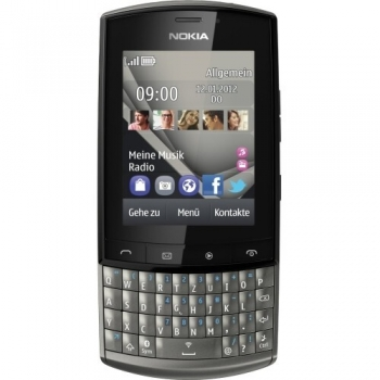Telefon Mobil Nokia Asha 303 Graphite 3G tastatura qwerty , Wi-Fi NOK303G