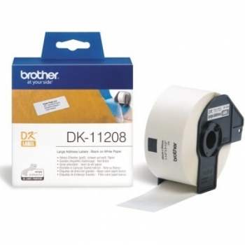 Rola Etichete Brother DK11208 Dimensiune 38 x 90 mm black on white