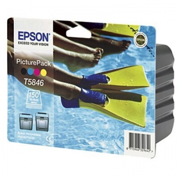 Picture Pack Epson T5846 C/M/Y/K + 150 Coli for Picture Mate 240, Picture Mate 280 C13T58464010