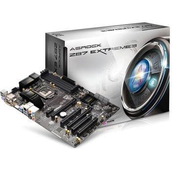 Placa de baza ASRock Z87 Extreme3 Socket 1150 Chipset Intel Z87 4x DIMM DDR3 2x PCI-E x16 3.0 1x PCI-E x1 3x PCI HDMI DVI VGA 4x USB 3.0 ATX
