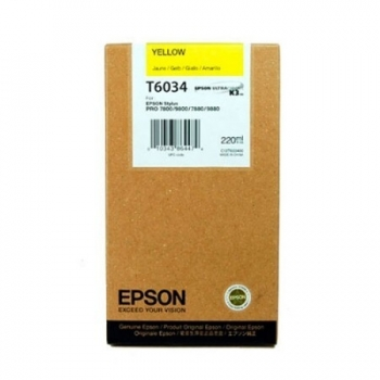 Cartus Cerneala Epson T6034 Yellow 220ml for Stylus Pro 7800, 7880, 9800, 9880 C13T603400