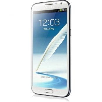 Telefon Mobil Samsung Galaxy Note 2 Marble White N7100 Cortex A9 Quad Core 1.6GHz 16GB Android 4.1 Gorilla Glass 2 SAMN7100MWH