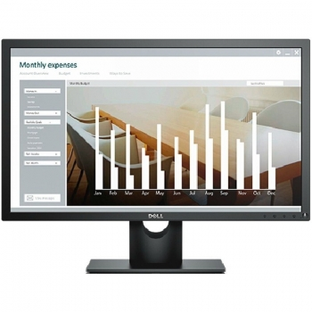 Monitor Dell 23.8'' 60.47 cm, LED IPS Antiglare with 3H hardness, FHD (1920 x 1080 at 60Hz), 16:9, 8ms (gray to gray), Brightness: 250 cd/m2, Contrast Ratio 1000:1, unghi de vizualizare 178o / 178o, Connectivity - 1 x DP (ver 1.2), 1 x VGA, Black