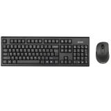 Kit Wireless Tastatura+Mouse A4Tech 7100N Tastatura GR-85 Mouse Optic 3 Butoane 2000 DPI USB Black