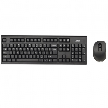 Kit Wireless Tastatura+Mouse A4Tech 7100N Tastatura GR-85 Mouse Optic 3 Butoane 2000 DPI USB Black