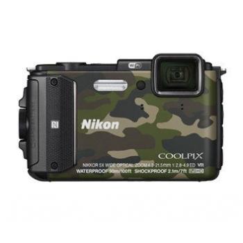 Model : COOLPIX WATERPROOF AW130 Outdoor Kit (camouflage), Rezolutie : , Senzor : , Sistem procesare a imaginii : , Zoom optic : , Zoom digital : , Stabilizator imagine : , Sensibilitate : , Timp de expunere : , Viteza de declansare : , Blit : , Ecran : ,