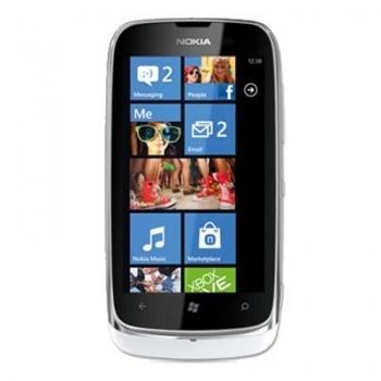 """Telefon Mobil Nokia Lumia 610 White 3G 3.7"""" 480 x 800 TFT Cortex A5 800Mhz memorie interna 8GB Windows Phone 7.5 Mango NOK610WHT"""