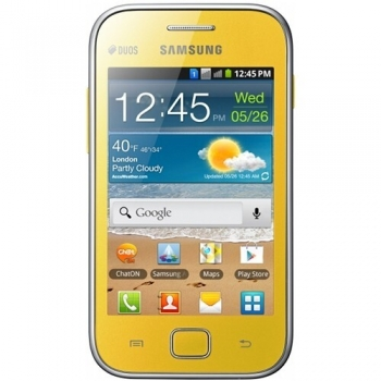 "Telefon Mobil Samsung Galaxy Ace S6802 Duos Yellow Dual SIM 3.5"" 320 x 480 832 MHz memorie interna 3GB Camera Foto 5MPx Android v2.3 SAMS6802YLW"