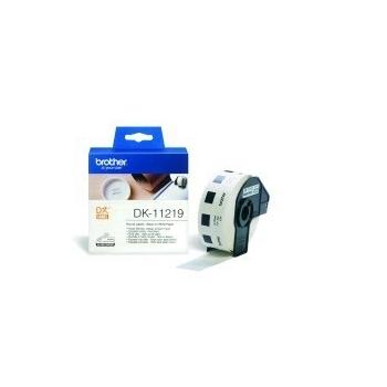 Rola Etichete Brother DK11219 round paper Dimensiune 12mm black on white 1200 de bucati