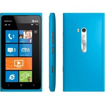 "Telefon Mobil Nokia Lumia 900 Cyan 3G 4.3"" 480 x 800 AMOLED Gorilla Glass Scorpion 1.4GHz memorie interna 16GB Windows 7.5 Phone Mango NOK900CY"