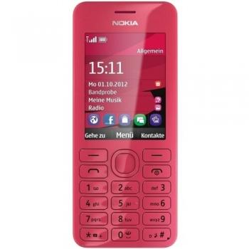 Telefon Mobil Nokia 206 Magenta Dual SIM Camera Foto 1.3MPx NOK206DSMA