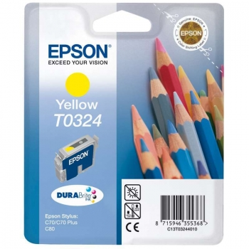 Cartus Cerneala Epson T0324 Yellow 420 Pagini for Stylus C70, Stylus C80 C13T03244010