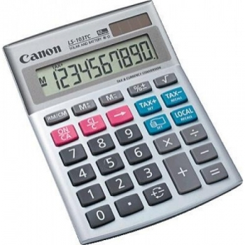 Calculator de birou Canon LS-103TC 10 Digits Dual Power Conversie valuta si taxe BE1535B002AA