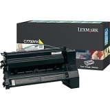 Cartus Toner Lexmark C7700YH Yellow Return Program 10000 pagini for C770N, C772N, X772N