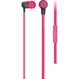 Casti cu microfon Serioux, in-ear, buton on/off, frecventa 18-20KHz, sensitivitate 116dB, impedanta 32Ohm, cablu 1.2m, jack 3.5mm, culoare roz